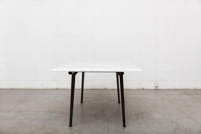 "Mid-Century Modern Friso Kramer Marble Topped ""Reform"" Table For Sale"