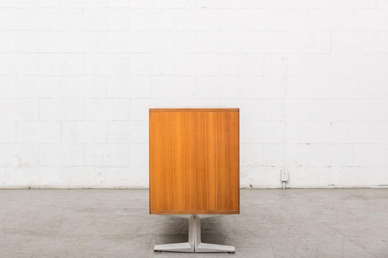 Teak Credenza with Tambour Doors In Good Condition For Sale In Los Angeles, CA