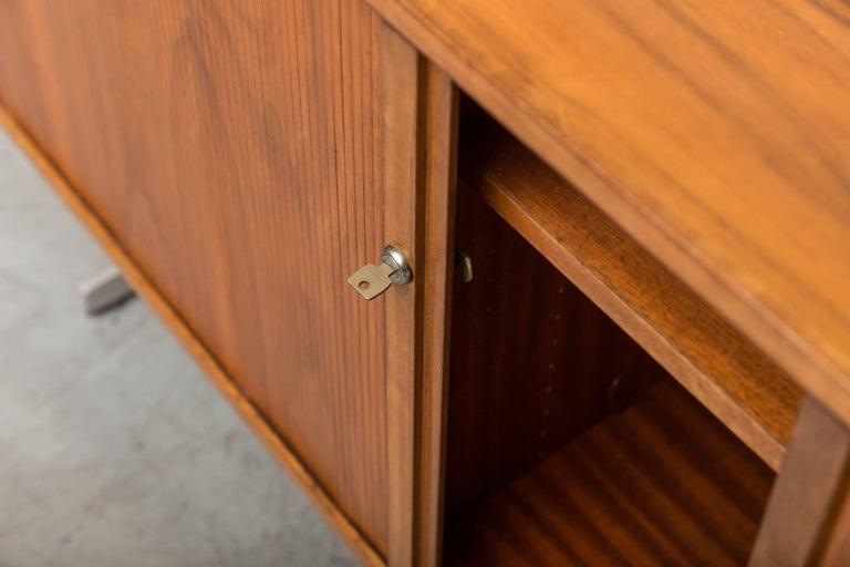 Teak Credenza with Tambour Doors For Sale 1