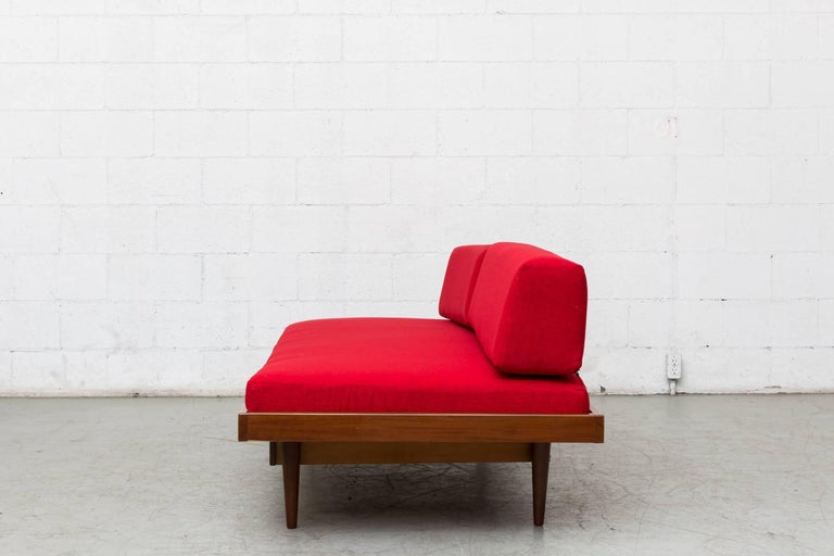 Dutch Midcentury Perriand Style Daybed with Drawers For Sale