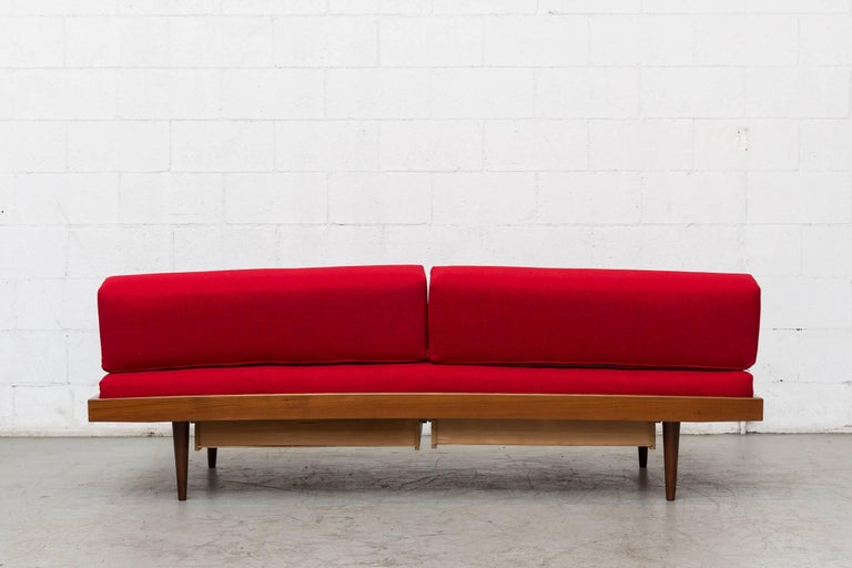 Mid-20th Century Midcentury Perriand Style Daybed with Drawers For Sale