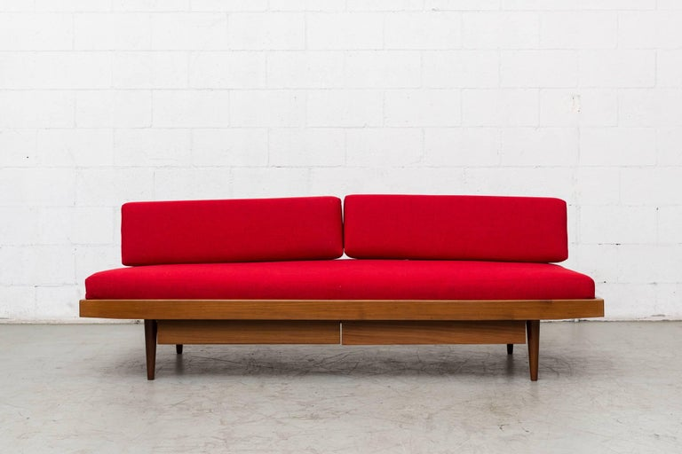Mid-Century Modern Midcentury Perriand Style Daybed with Drawers For Sale