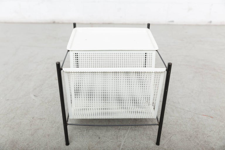 Pilastro Wire Magazine Rack and Side Table For Sale 4