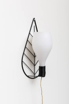 1950s Wire Leaf Wall Sconce