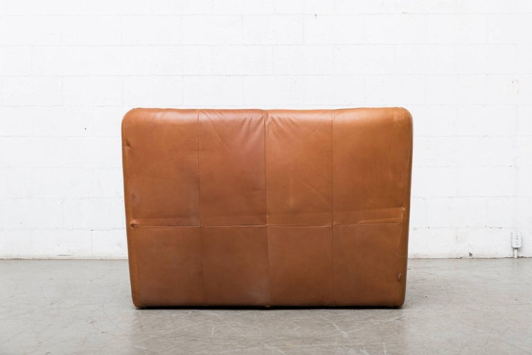Dutch Gerard van den Berg Leather Love Seat For Sale