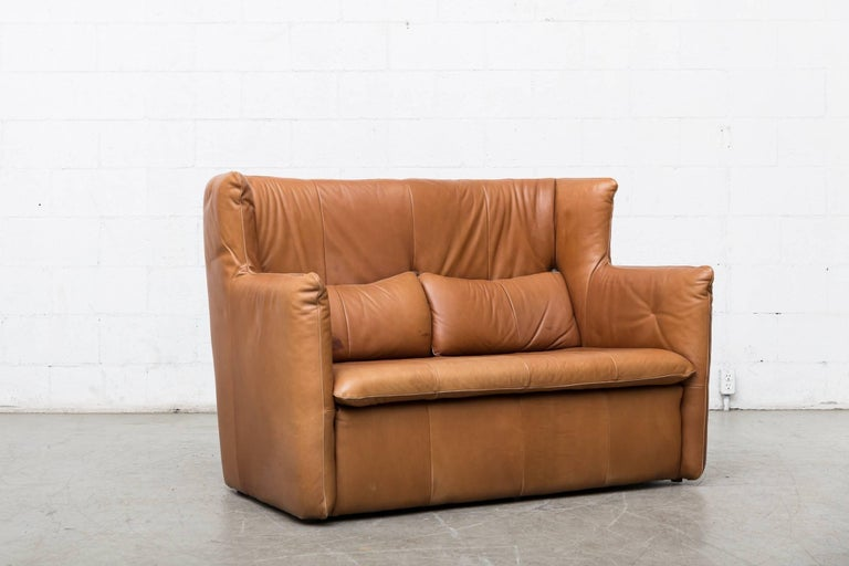 Gerard van den Berg Leather Love Seat For Sale 1