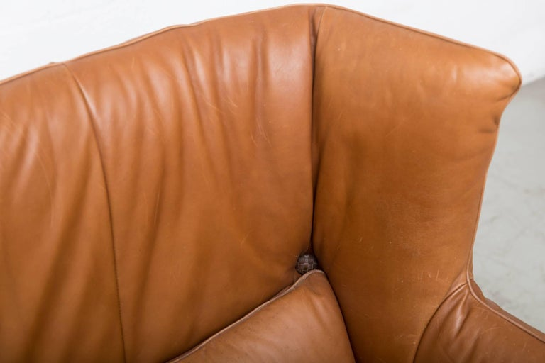 Gerard van den Berg Leather Love Seat For Sale 5