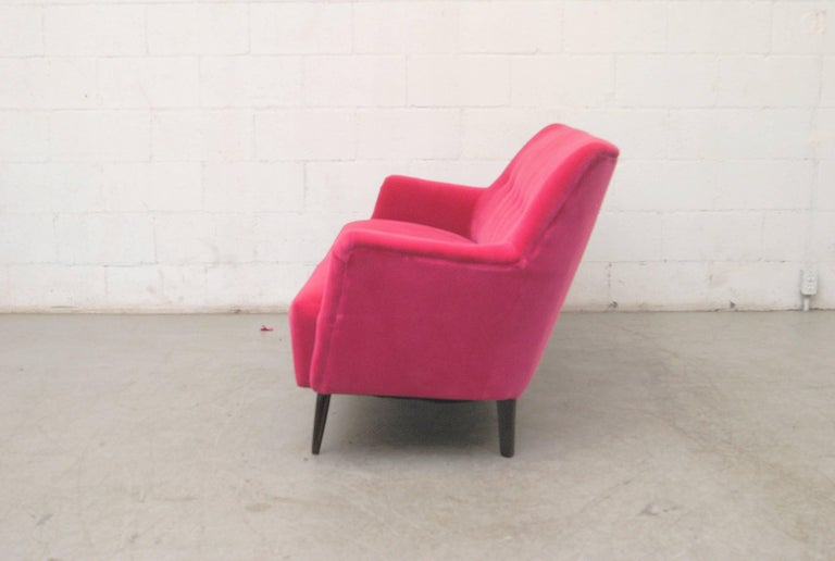 Mid-Century Modern Theo Ruth Loveseat by Artifort For Sale