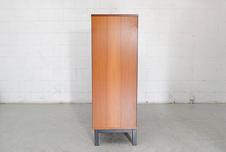 Giant Midcentury Teak Office Cabinet In Good Condition For Sale In Los Angeles, CA