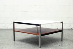 Square Coen de Vries for Gispen Two-Tiered Side or Coffee Table