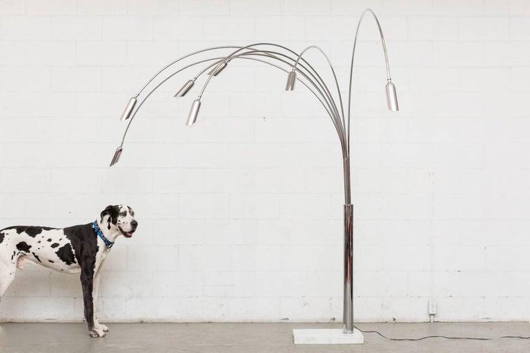 Late 20th Century Mod Italian Arc Lamp For Sale