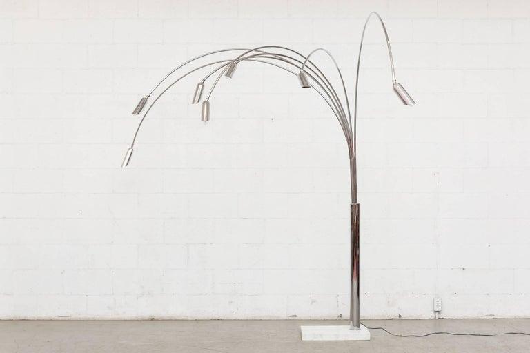 Mid-Century Modern Mod Italian Arc Lamp For Sale
