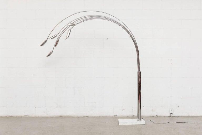 Chrome Mod Italian Arc Lamp For Sale