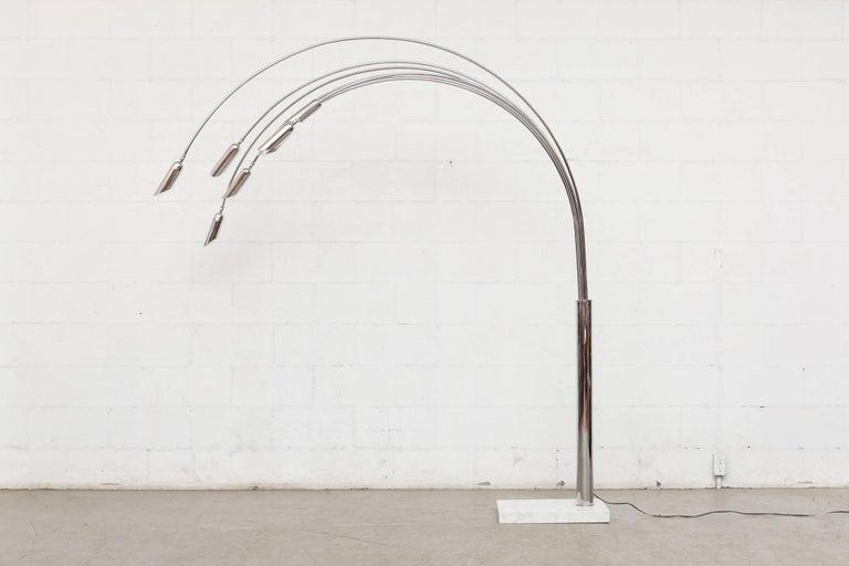Mod Italian Arc Lamp For Sale 1