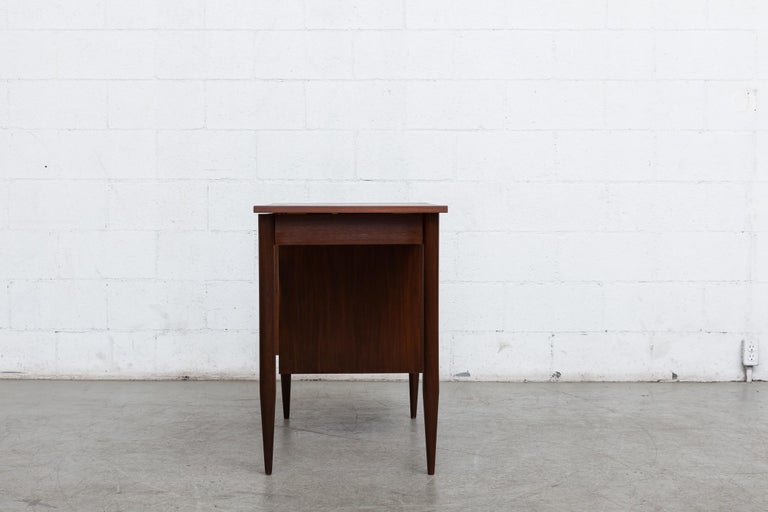 Arne Vodder Style Writing Desk In Good Condition For Sale In Los Angeles, CA