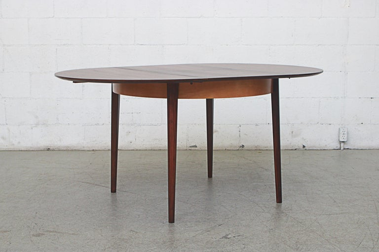 Dutch Cees Braakman for Pastoe Round Teak Dining Table For Sale