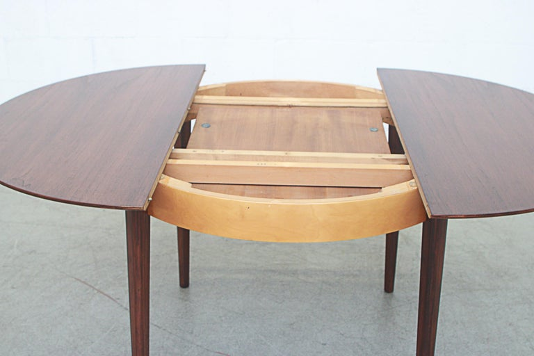 Birch Cees Braakman for Pastoe Round Teak Dining Table For Sale