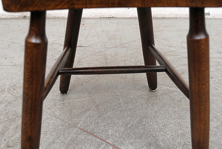 Set of Six Brutalist Pierre Chapo Style Chairs For Sale 6