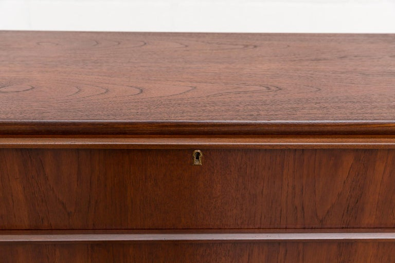Mid-Century Modern Midcentury Danish Tall Teak Dresser For Sale