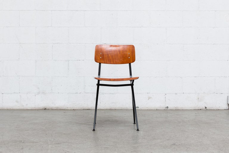 Mid-20th Century Set of 6 Jean Prouve and Friso Kramer Style School Chairs For Sale