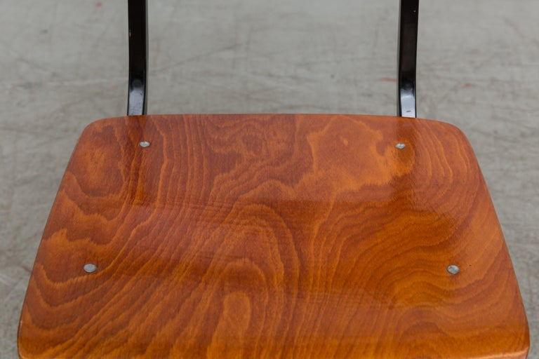 Set of 6 Jean Prouve and Friso Kramer Style School Chairs For Sale 2