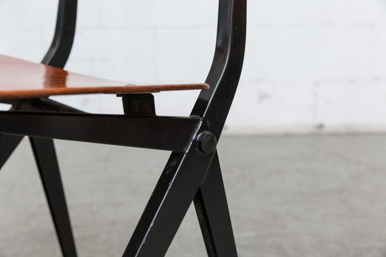Set of 6 Jean Prouve and Friso Kramer Style School Chairs For Sale 7