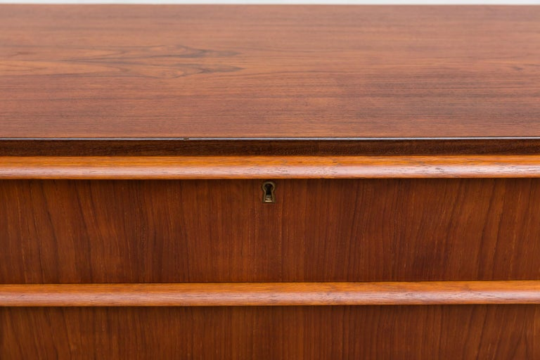 Midcentury Danish Teak Dresser For Sale 5