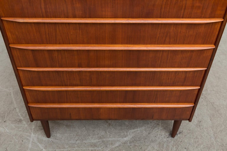 Midcentury Danish Teak Dresser For Sale 4