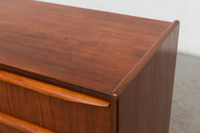Midcentury Danish Teak Dresser For Sale 2