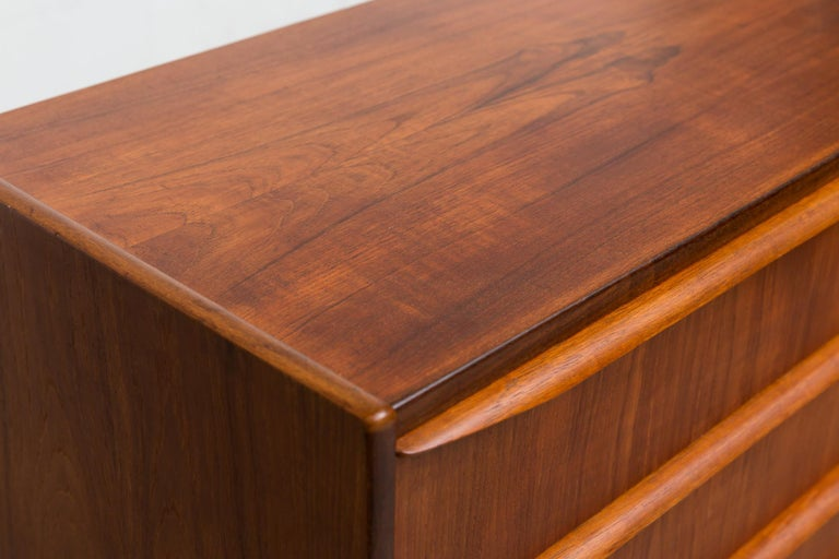 Mid-20th Century Midcentury Danish Teak Dresser For Sale