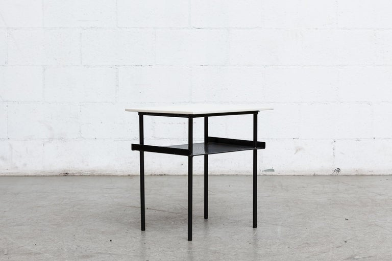 Mid-Century Modern Rare Wim Rietveld for Auping Small Industrial Side Table For Sale