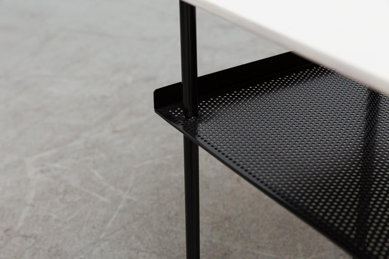 Mid-20th Century Rare Wim Rietveld for Auping Small Industrial Side Table For Sale