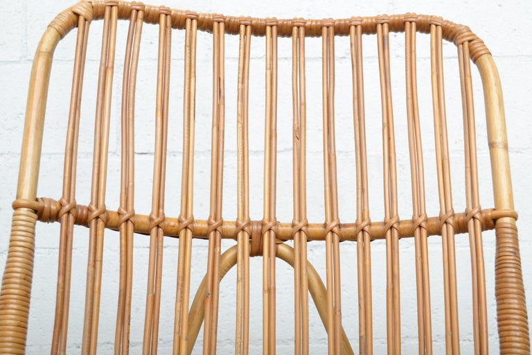 Rohe Noordwolde Bamboo Rocking Chair For Sale 1