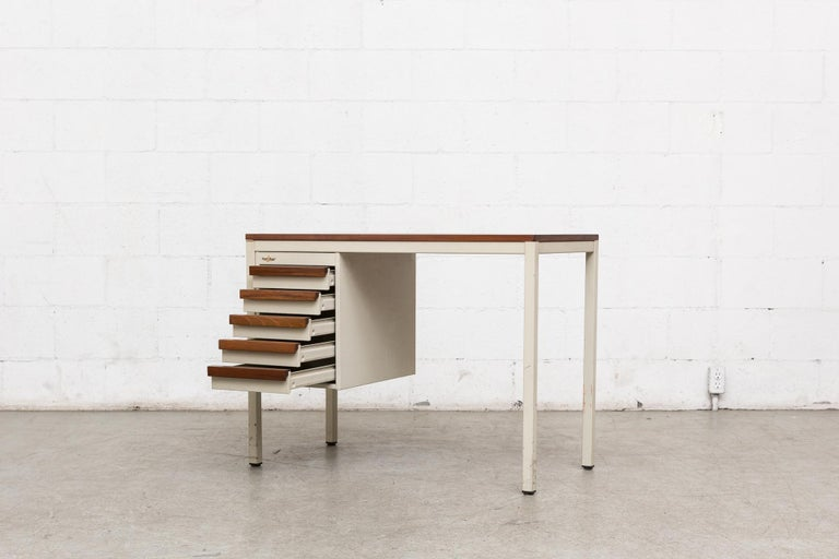 Dutch Emmein Meubel Industrial Desk For Sale