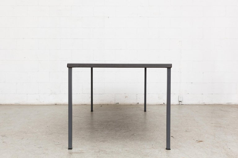 Mid-Century Modern Extra Large Gispen Industrial Table For Sale