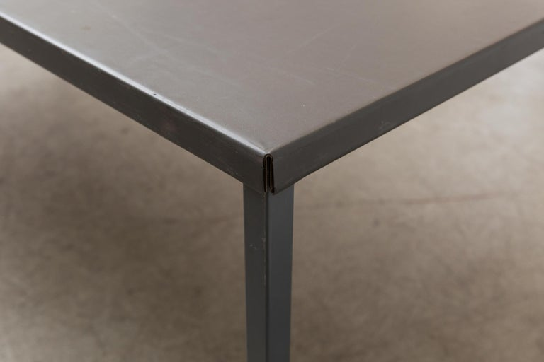 Metal Extra Large Gispen Industrial Table For Sale
