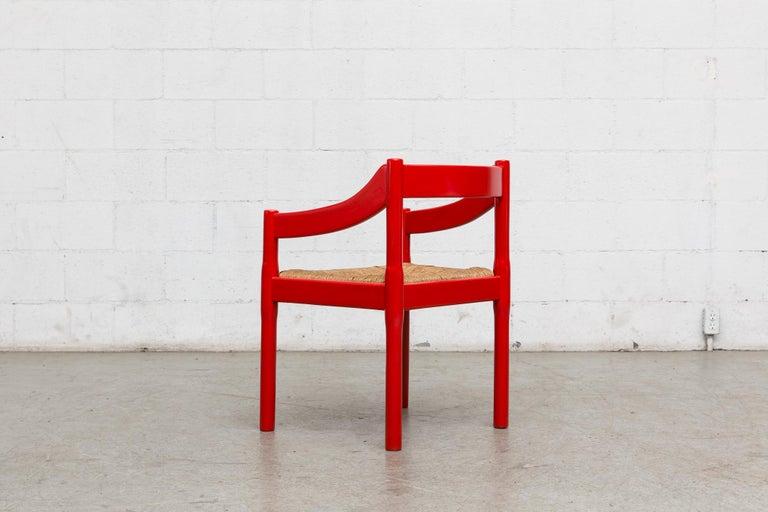 Italian Vico Magestretti 'Carimate' Rush Armchair For Sale