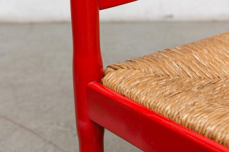 Vico Magestretti 'Carimate' Rush Armchair For Sale 2