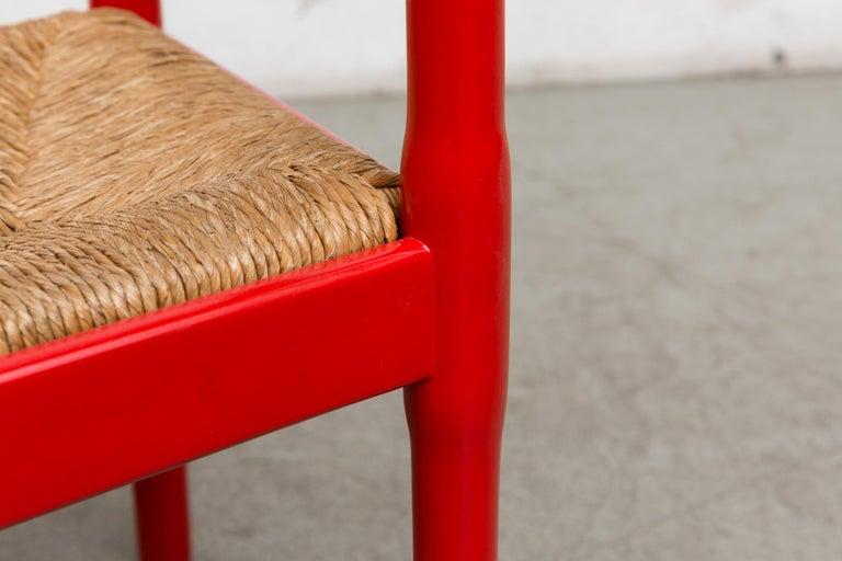 Vico Magestretti 'Carimate' Rush Armchair For Sale 3