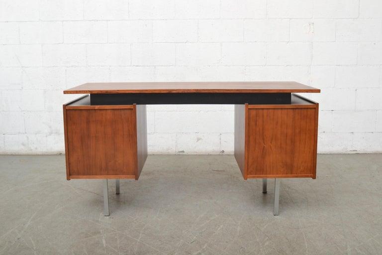 Painted Cees Braakman Teak Desk for Pastoe For Sale