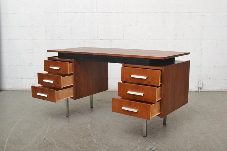 Cees Braakman Teak Desk for Pastoe In Good Condition For Sale In Los Angeles, CA