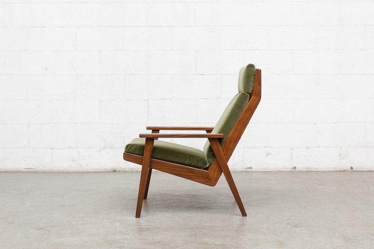 Dutch Robert Parry Olive Velvet Lounge Chair For Sale