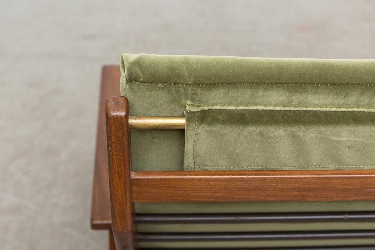 Robert Parry Olive Velvet Lounge Chair For Sale 1