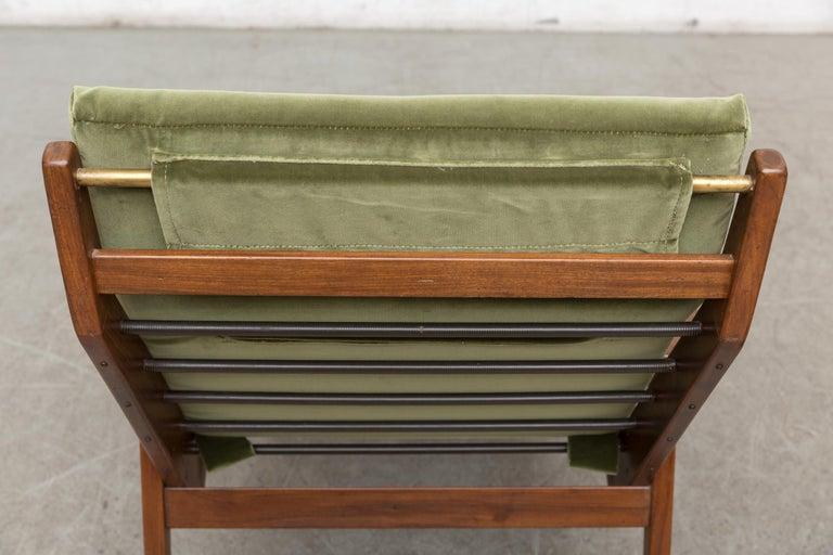 Robert Parry Olive Velvet Lounge Chair For Sale 3
