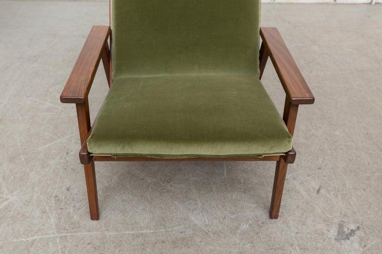 Robert Parry Olive Velvet Lounge Chair For Sale 5