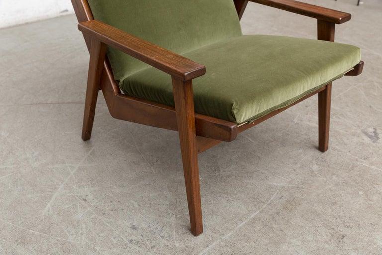Robert Parry Olive Velvet Lounge Chair For Sale 6