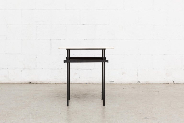Mid-Century Modern Rare Wim Rietveld for Auping Industrial Side Table For Sale