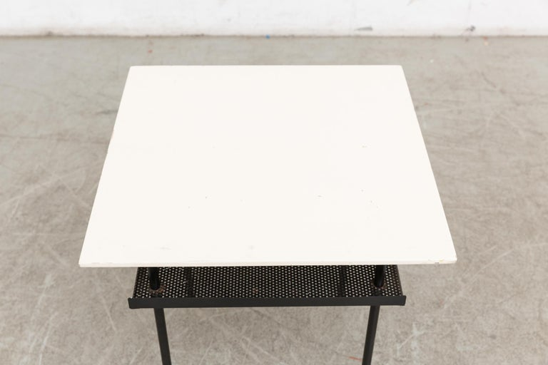 Dutch Rare Wim Rietveld for Auping Industrial Side Table For Sale