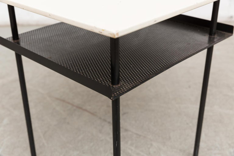 Enameled Rare Wim Rietveld for Auping Industrial Side Table For Sale