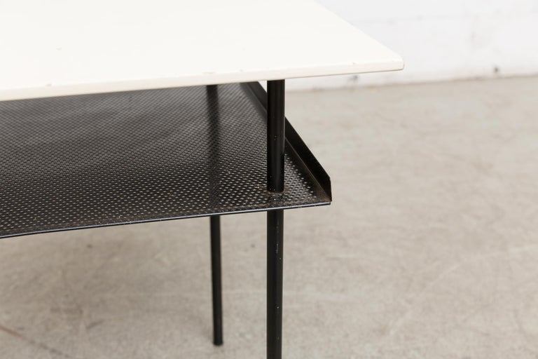 Rare Wim Rietveld for Auping Industrial Side Table In Good Condition For Sale In Los Angeles, CA